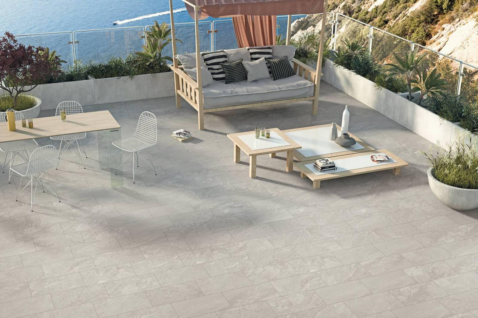 Carrelage De Sol Exterieur Pour Terrasse En Imitation Pierre
