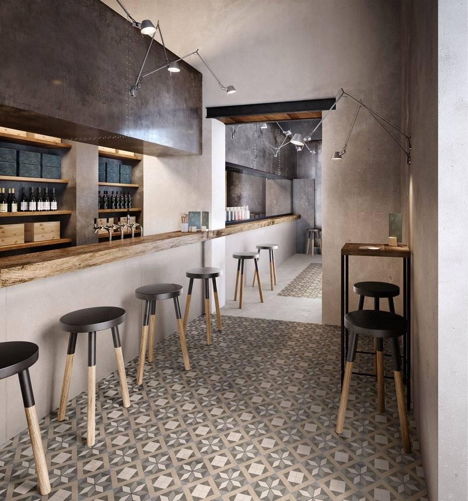 Carrelage Mural Pour Cheminée carrelage de sol intérieur en imitation carreaux de ciment