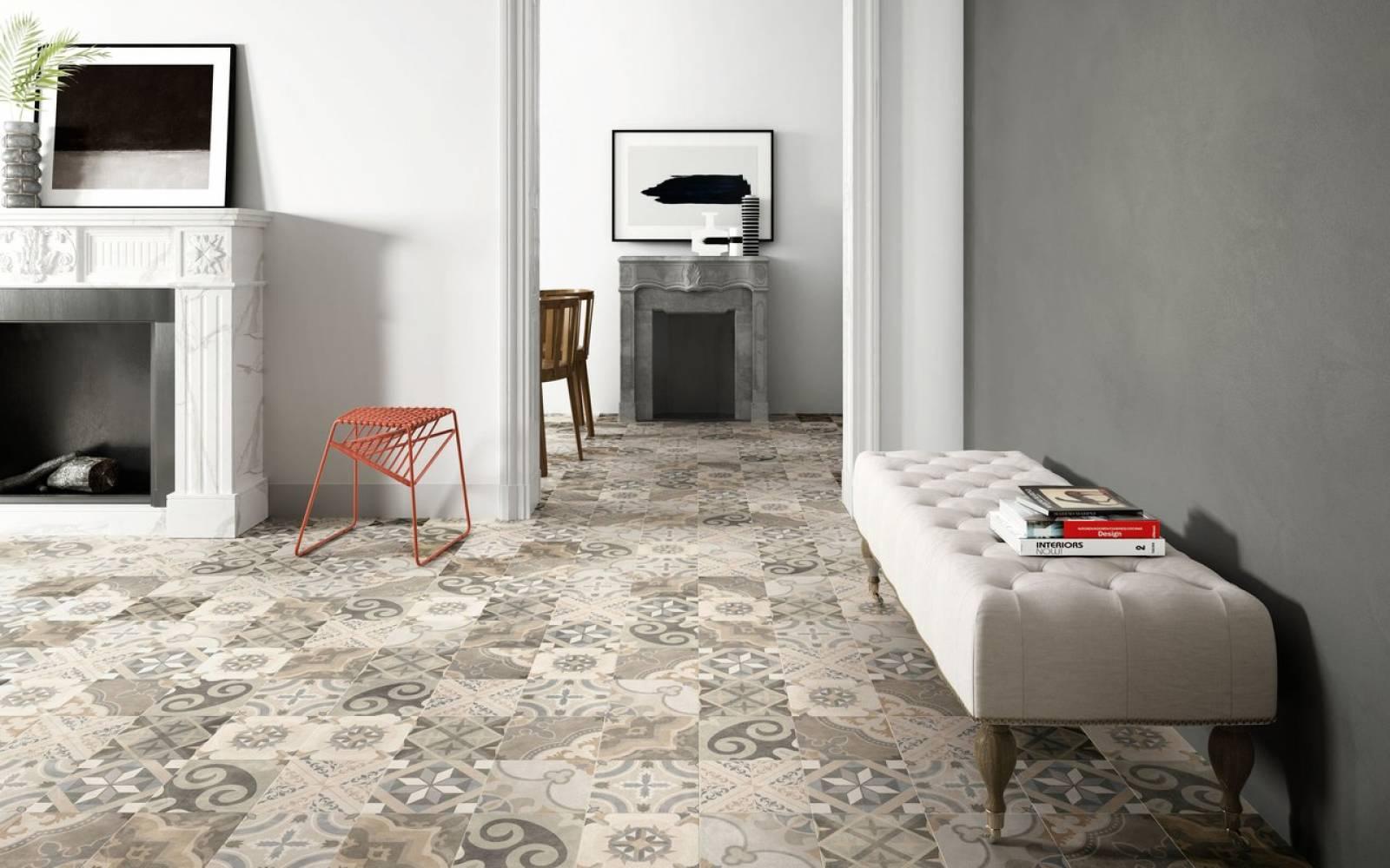 Carreau Ciment Cuisine Sol carrelage de sol intérieur en imitation carreaux de ciment