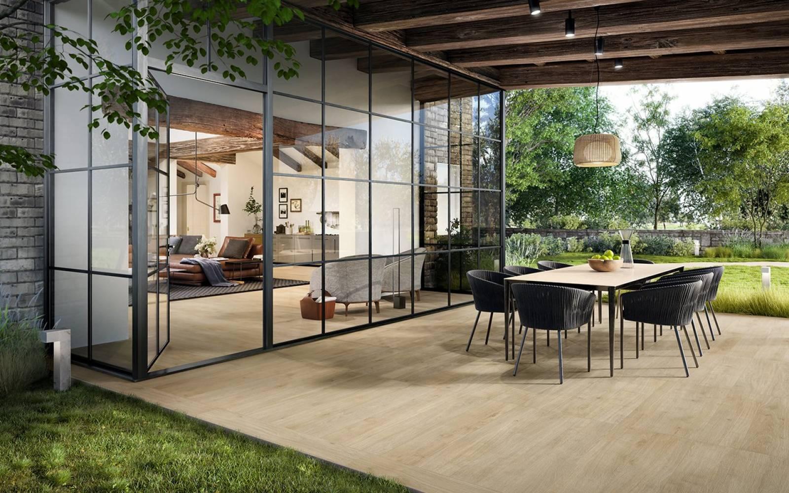 Bois Pour Terrasse Extérieure carrelage de sol pour terrasse en imitation bois à boos 76